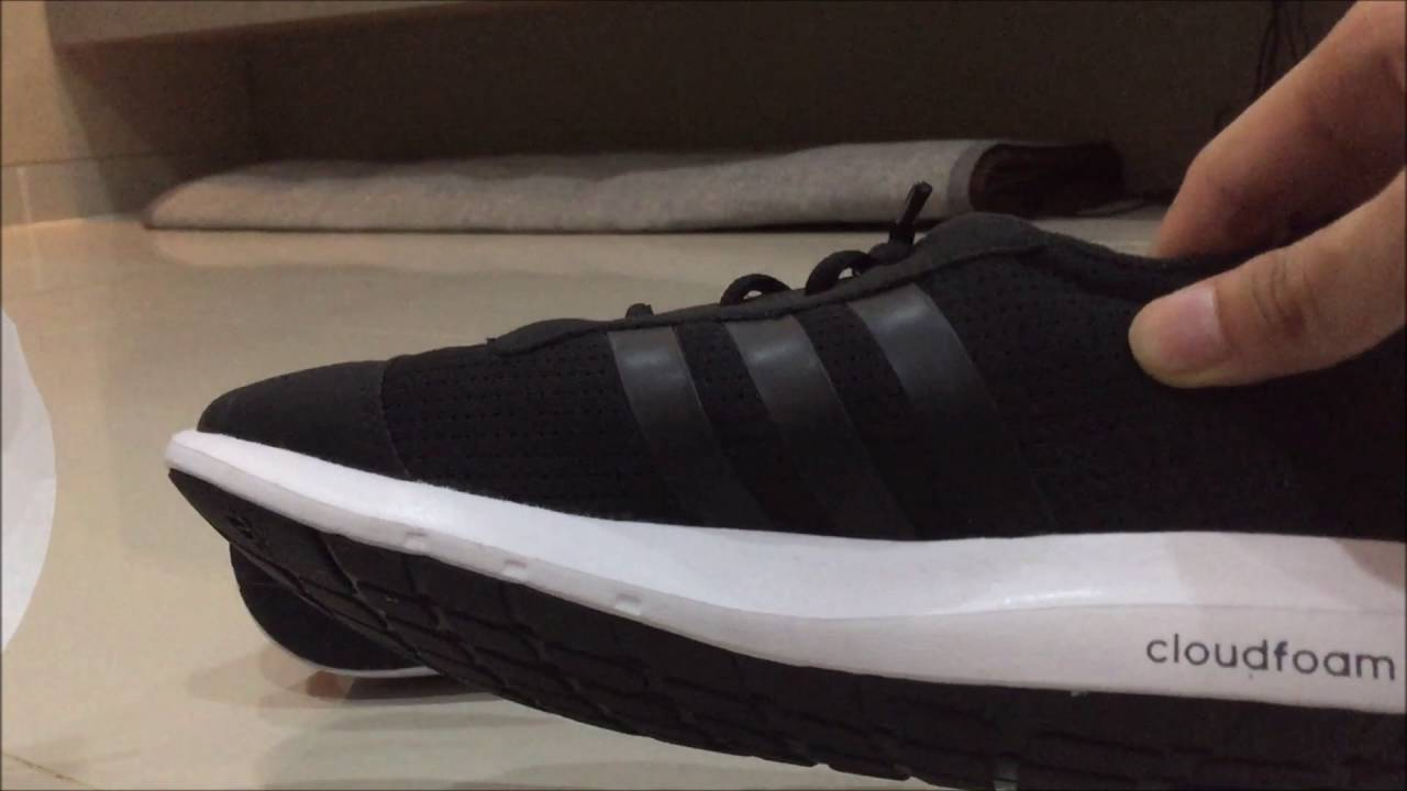 ADIDAS ELEMENT ATHLETIC (CLOUDFOAM) UNBOXING - BLACK WHITE - YouTube 6955b71f07953