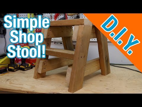 How to build your own simple shop stool from reclaimed lumber 2x4's