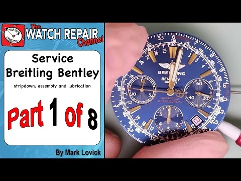 Part 1 Breitling Bentley Service ETA 2892 A2 Dubois Depraz Watch Repair Tutorial