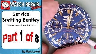 Part 1 Breitling Bentley Service ETA 2892 A2 Dubois Depraz Watch Repair Tutorial(, 2015-06-20T12:33:57.000Z)