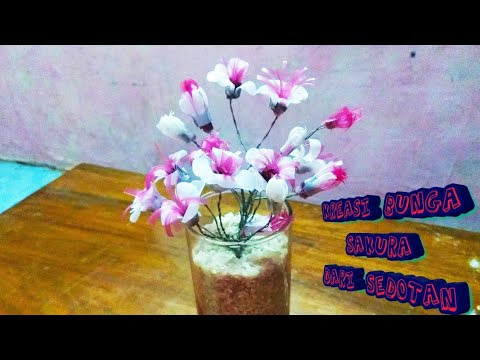 Cara membuat bunga sakura dari sedotan - YouTube ec68e5c7a3