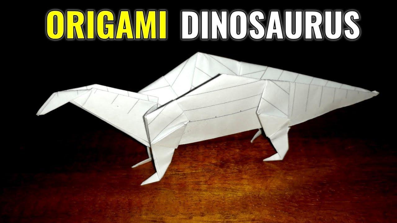Origami Dinosaurus Kertas Seni Melipat Kertas Youtube