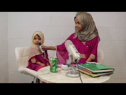 Better quality video: Maryam is reviewing few Surah with her baby sister Fatima [2 yrs]