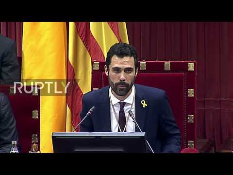 Spain: 'First step to end intervention in our institutions' - new Catalan Parliament pres.