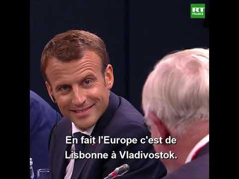 L'Oural ou Vladivostok ? : Macron (gentiment) tancé sur les frontières de l'Europe