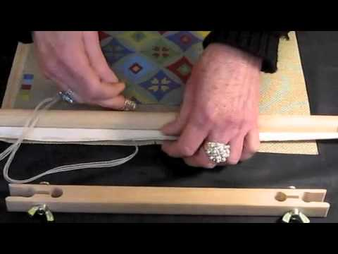 How to attach a needlepoint canvas to a frame - YouTube