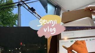 geunji vlog | 아이패드 케이스 언박싱 | 김…