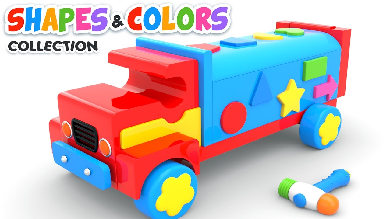 Learn Shapes With Wooden Truck Toy Colors Shapes