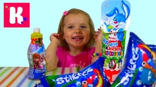 Холодное сердце Ежики Киндер сюрприз игрушки распаковка Frozen Kinder hedgehogs surprise eggs toys