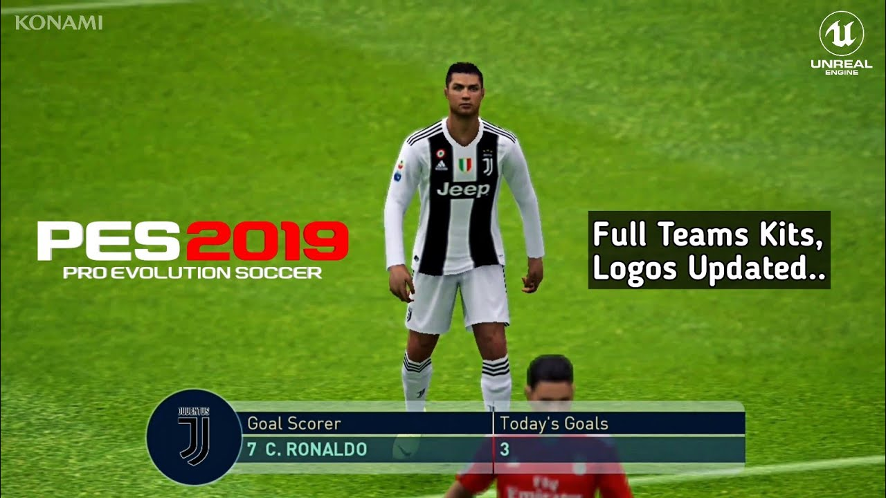 PES 2019 Mobile Android Patch Full Team Kits,Logos Update