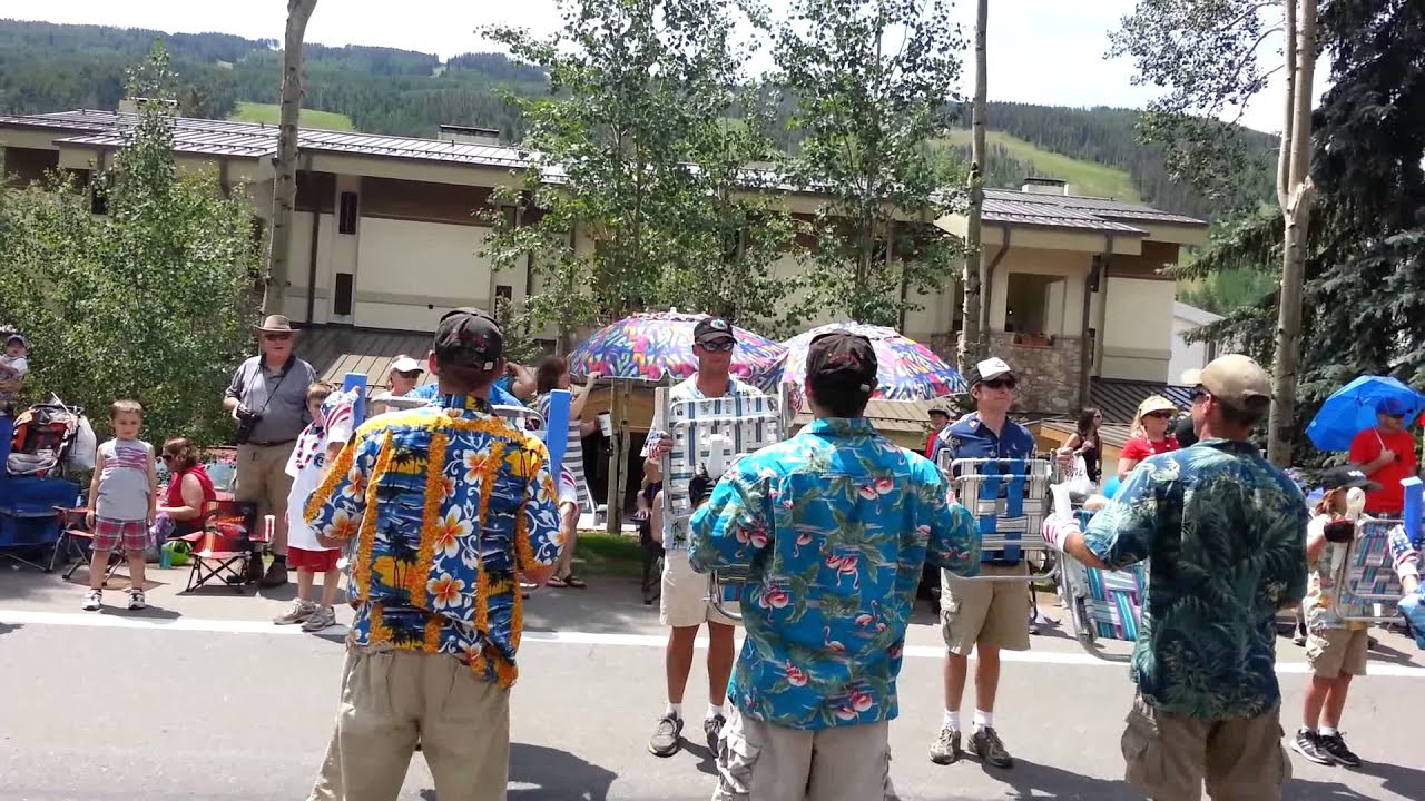 Lawn chair brigade vail co july 4 2013 youtube for Chair 4 cliffs vail