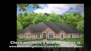 4 Bedroom House Plans At Home Design Central.com