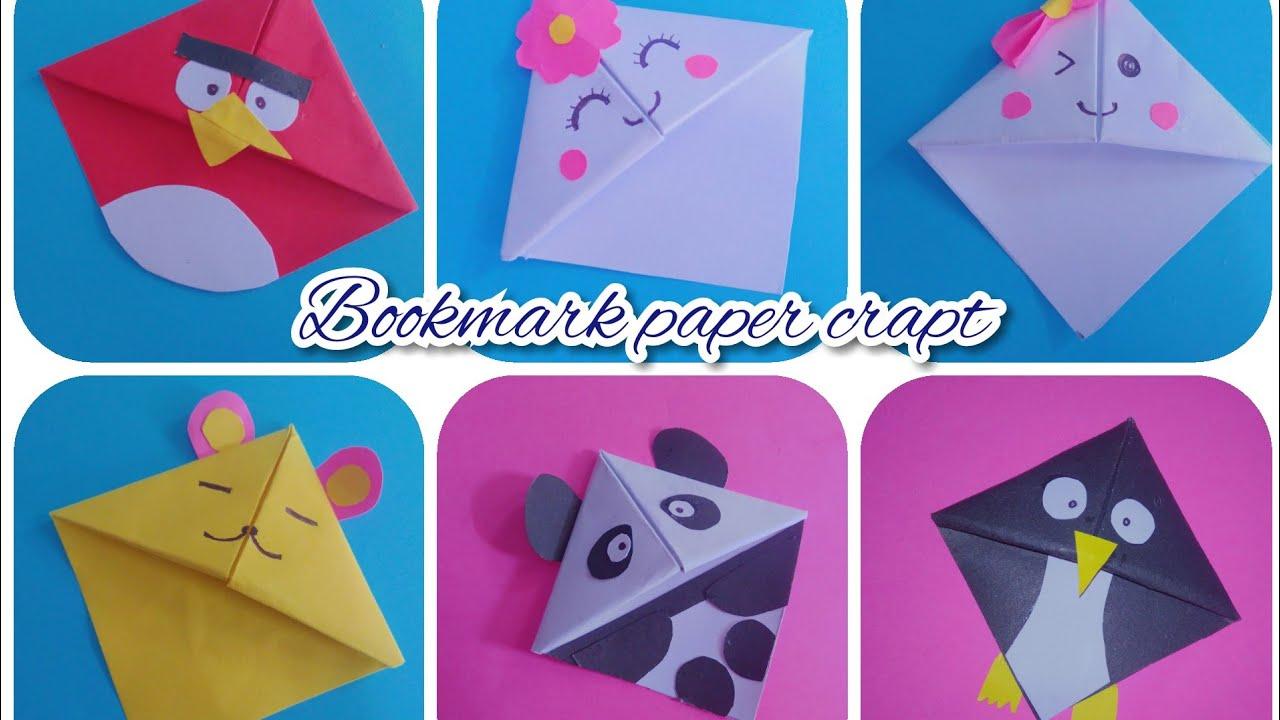 DIY Bookmark origami   cara mudah membuat pembatas buku origami
