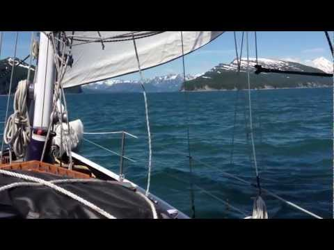Sailing to Tuxedni Channel on the West side of Cook Inlet