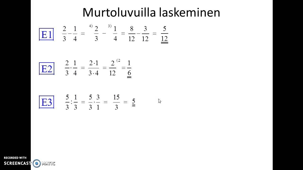 Murtoluku Kertolasku