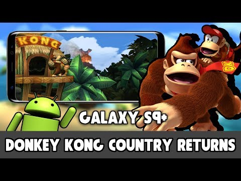 Donkey Kong Country Returns On Samsung Galaxy S9+ (Dolphin Emulator Android)