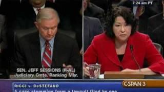 Sen. Sessions Questions Judge Sotomayor on Ricci v DeStefano