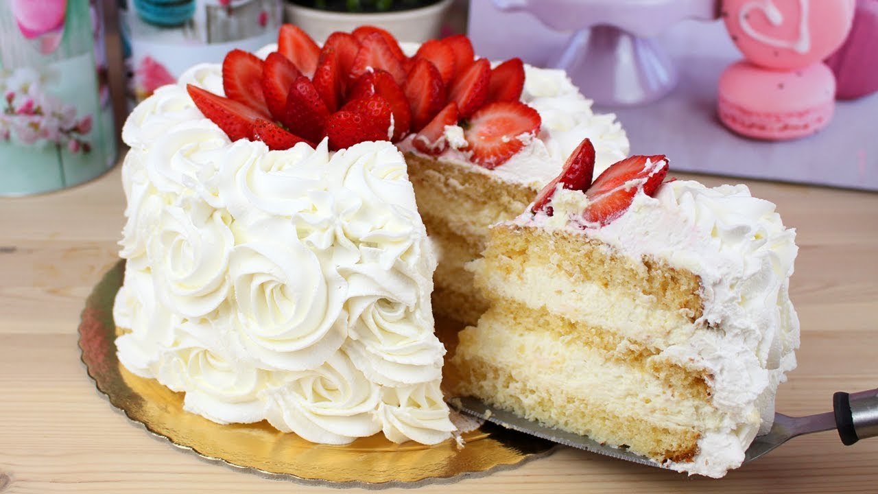 Bolo de Leite Ninho com Morangos Cakepedia YouTube -> Decoração Para Bolo Com Morango