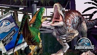 3 Велоцираптора против Индоминуса и не только Jurassic World The Game