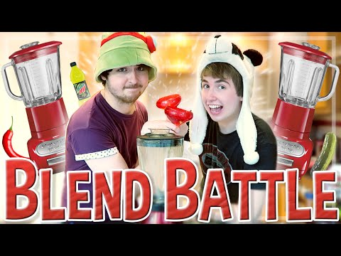 Oli Vs. Joel | BLEND BATTLE Challenge w/ Smallishbeans!