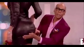 Amber Rose at Live Broadcast (Touching Her Ass)