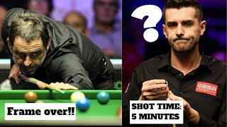 Ronnie O' Sullivan finishes frame while Mark Selby is still thinking! Rocket performance