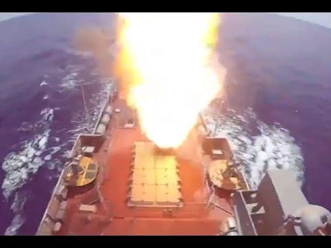 ย้อนหลัง เรือรบรัสเซียบุกยิงขีปนาวุธถล่มไอเอสในซีเรีย