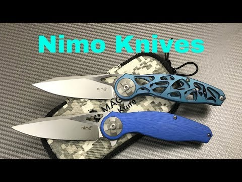 """Nimo Knives from China  """"My..Is it real M390 Rant !!""""  Either way they're cool designs. !"""