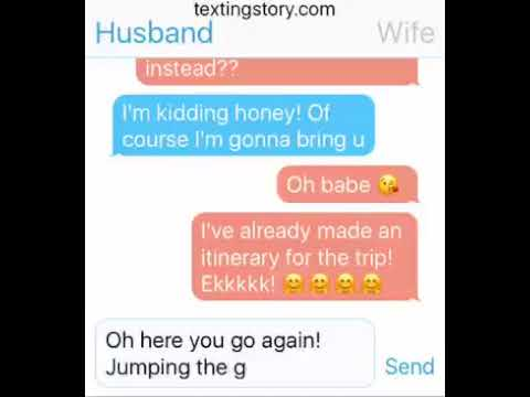 hilarious husband and wife texting must watch until the end
