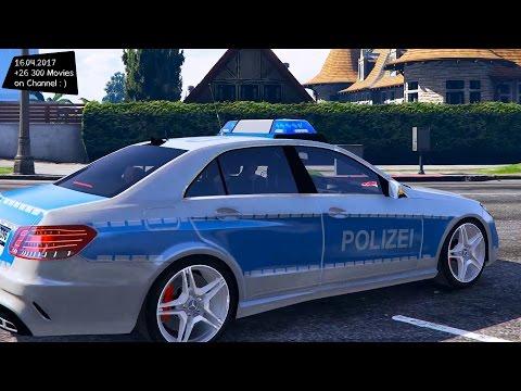 Mercedes-Benz E-klasse Limousine Polizei Hamburg New ENB Top Speed Test GTA Mod