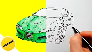 How to Draw a Car - Toyota - step by step ★