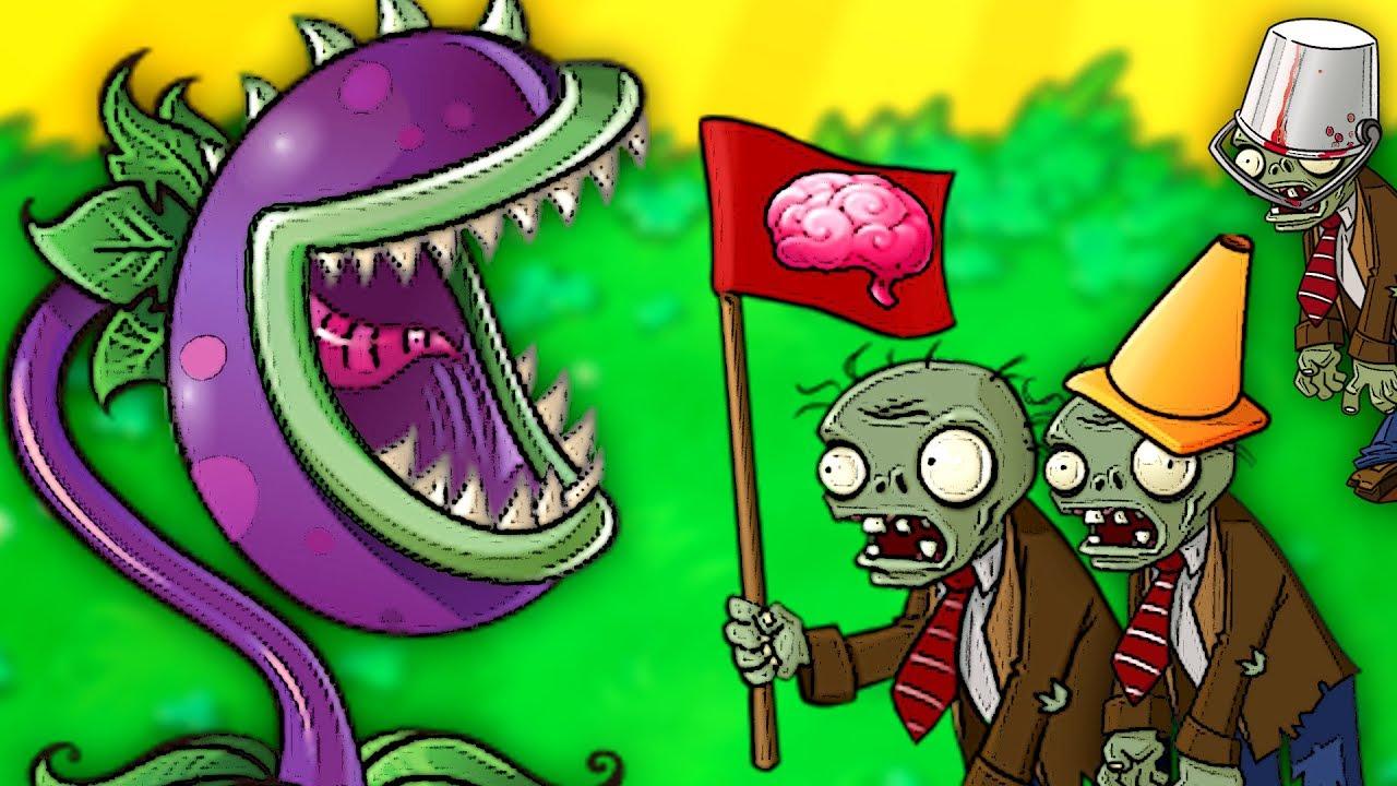plante carnivore zombie