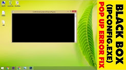 How to stop (IPCONFIG.EXE) Black CMD screen pop up in windows 7/8/8.1/10 | SOLVED