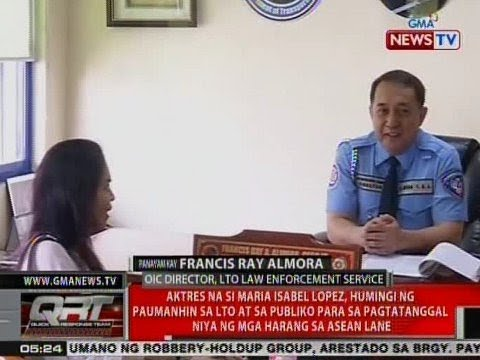 QRT: Panayam kay Francis Ray Almora, OIC Director, LTO Law Enforcement Service