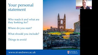 UK Personal Statement and University of St  Andrews