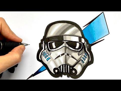 Como Dibujar Stormtrooper X Fortnite Star Wars Youtube