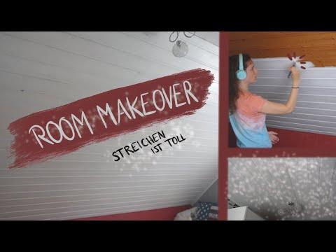 Ich STREICHE mein ZIMMER (ganz alleine!!) // Room Makeover