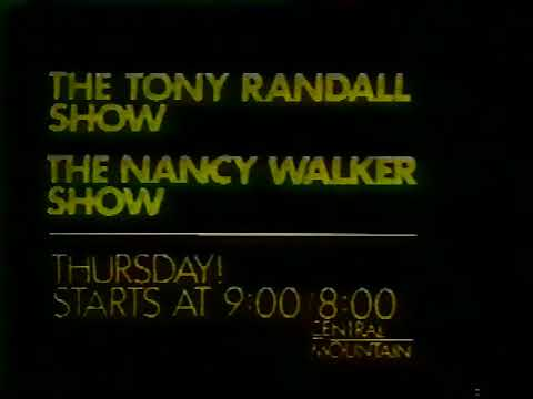 The Tony Randall Show & The Nancy Walker Show 1976 ABC Promo