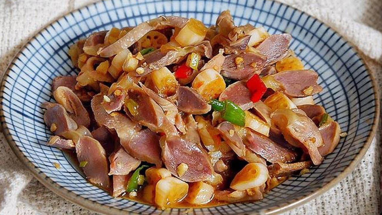 湖北特色小炒,泡藕帶炒雞胗,應季美食,簡單好吃【隨手做美食】