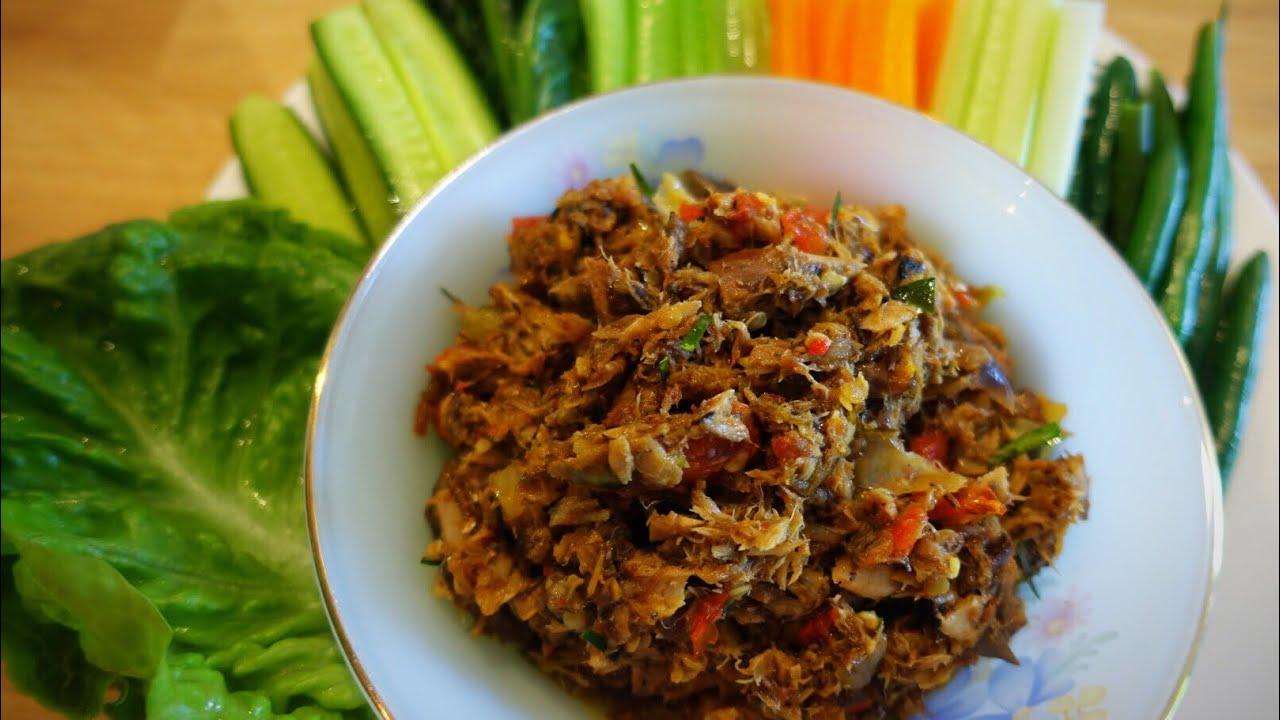 spicy canned mackerel dip recipe thai food อร่อยเลอค่า