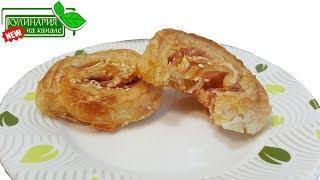 Пирожки из слоеного теста №2 С сыром и ветчиной Быстрые нямки Мамочкин канал