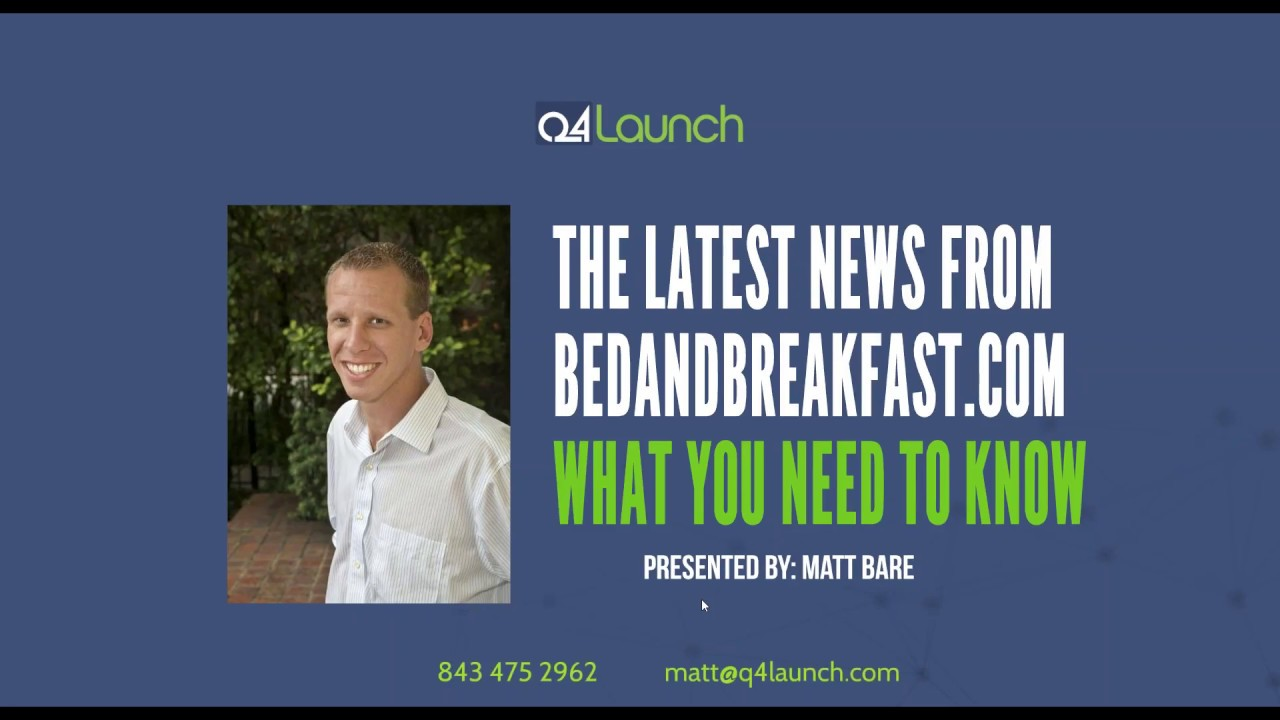 The Latest News From Bedandbreakfast.com and What You Need To Know - YouTube