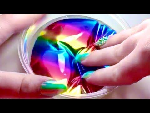 Satisfying Glitter And Rainbow Slime ASMR Compilation 1#