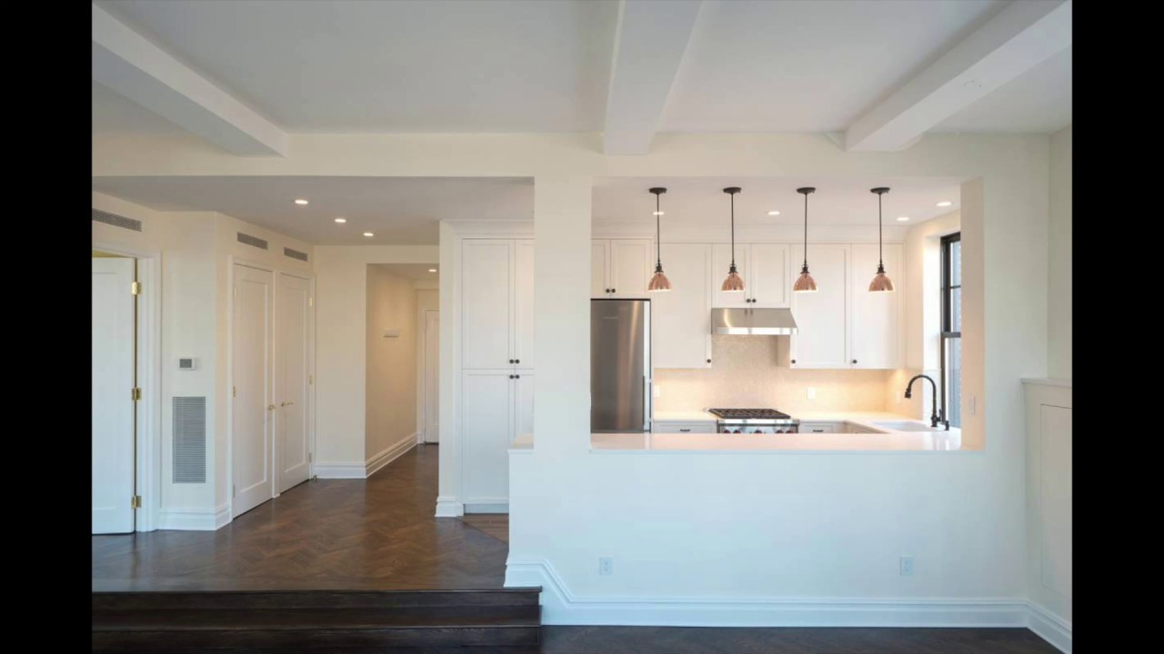 Open kitchen transformation of a prewar penthouse in nyc 5 riverside drive nyc