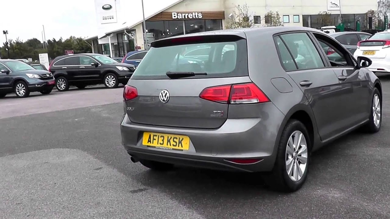 2013 Volkswagen Golf Bluemotion Se 1 6l Limestone Grey - Metallic Farben Golf 7