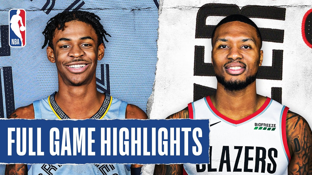 Grizzlies at Trail Blazers   Full Game Highlights   August 15, 2020