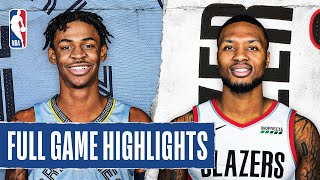 GRIZZLIES at TRAIL BLAZERS | FULL GAME HIGHLIGHTS | August 15, 2020