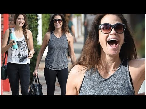 TERI hatcher and daughter emerson rose tenney workout together