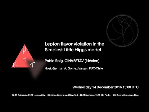 [W32] Pablo Roig: Lepton flavor violation in the Simplest Little Higgs model