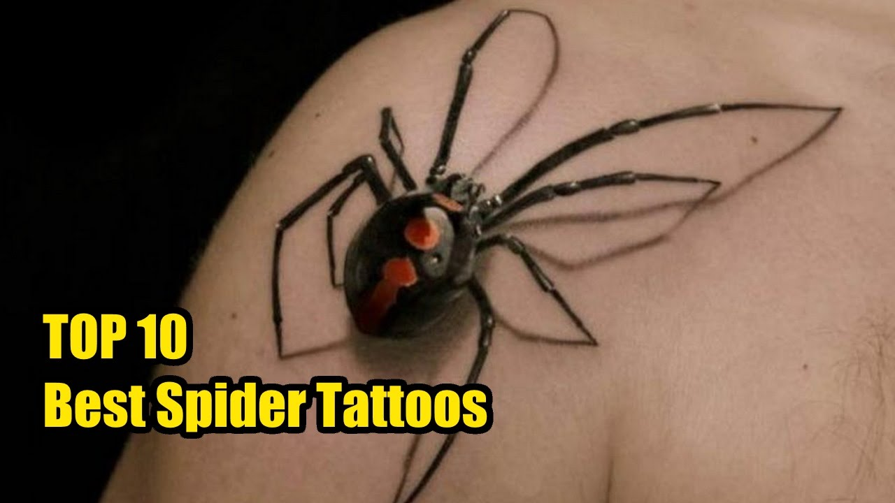 Top 10 Best Spider Tattoo Designs Amp Meanings Tattoo World Youtube
